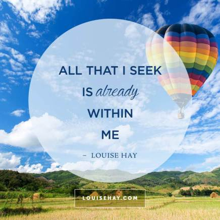 all that is seek is already within me
